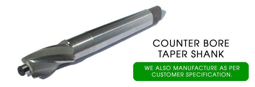 counter bore taper shank