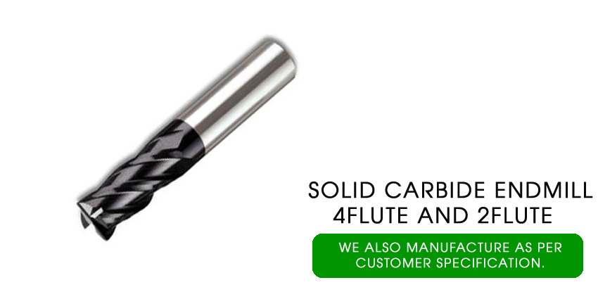 solid carbide end mill 4 flute and 2 flute