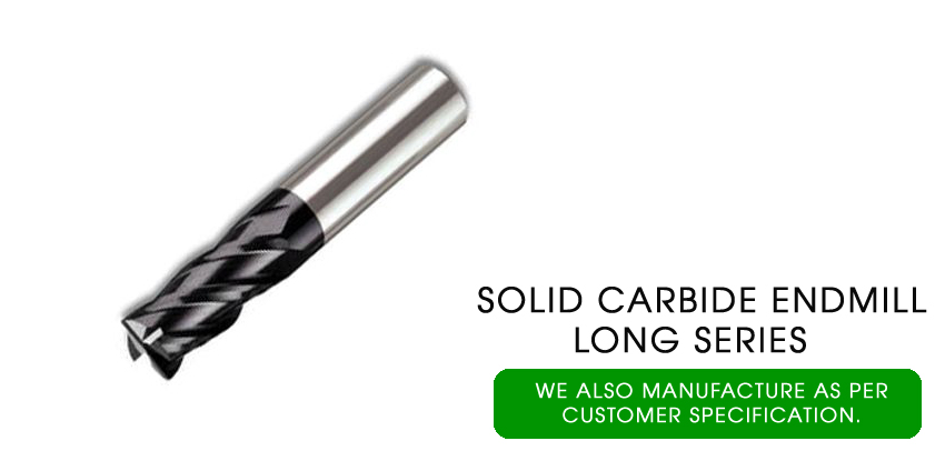 solid carbide end mill long series